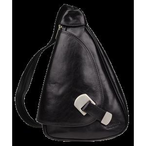 Kožený batůžek černý