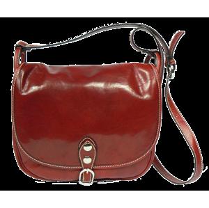 Italská kožená kabelka Caccia Rossa