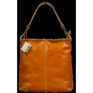 Kožená kabelka přes rameno Ginevra Gialla