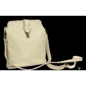Malá kožená kabelka přes rameno Piazza Beige