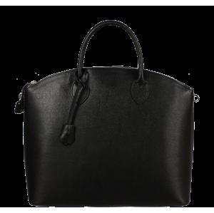 Černé kožené kabelky do ruky Ofelia Nera