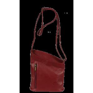 Italská kožená kabelka Angola Rossa Scura
