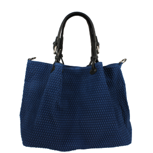 Italská kožená kabelka Belloza Blu Prima